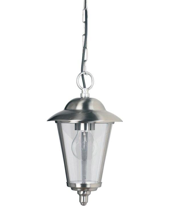 Endon Klien traditional polished stainless hanging enclosed porch lantern main image