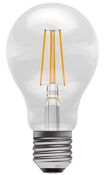 4w ES LED Dimmable Filament GLS Light Bulb 470lm Warm White
