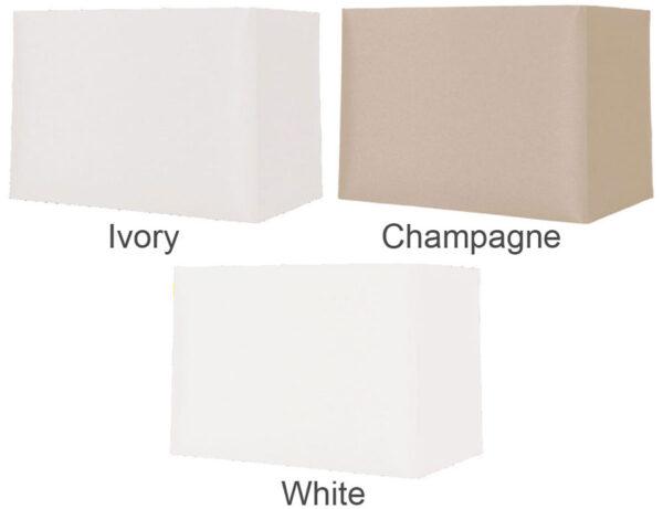 Rectangular Hard Backed 12 Inch Table Lamp Shade Colour Choice