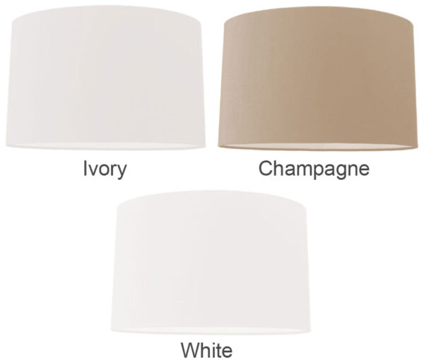 Oval Hard Backed 16 Inch Large Table Lamp Shade Colour Choice