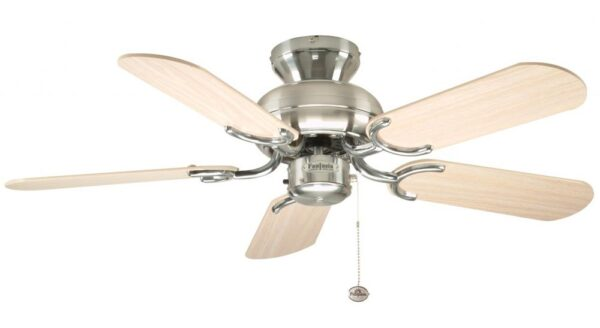 Fantasia Capri 36″ Ceiling Fan No Light Stainless Steel / Maple / Silver