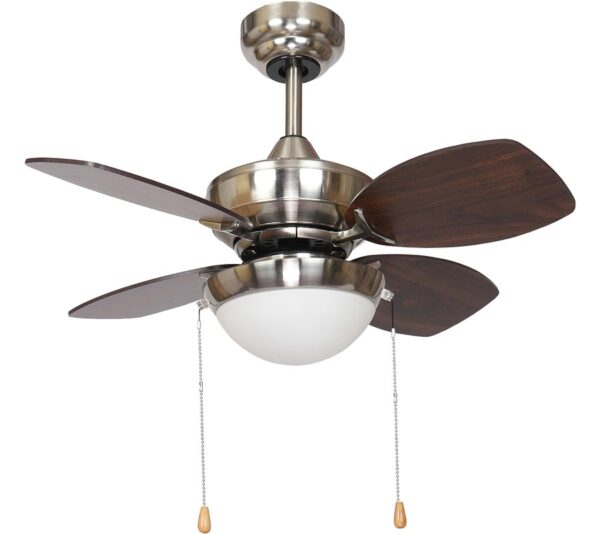 Fantasia Kompact Small 28″ Ceiling Fan LED Light Brushed Nickel