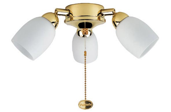 Amorie Polished Brass Fantasia Fan 3 Light Kit