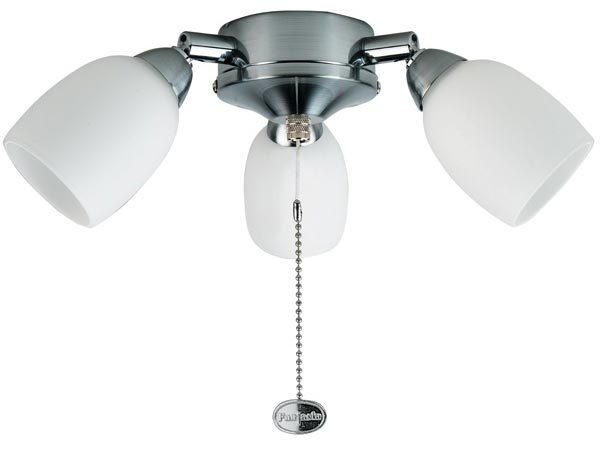 Amorie Stainless Steel Fantasia Fan 3 Light Kit