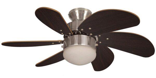 Fantasia Atlanta Small 30″ Ceiling Fan Light Brushed Nickel / Oak