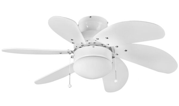 Fantasia Atlanta Small 30″ Ceiling Fan With Light Gloss White