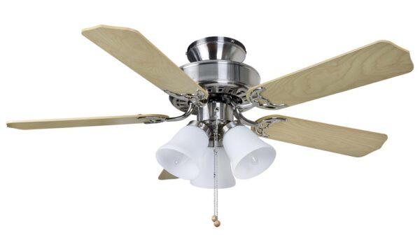 Fantasia Belaire Combi 42″ Ceiling Fan Light Kit Brushed Nickel