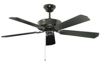 Fantasia Classic 52″ Ceiling Fan Without Light Gloss Black