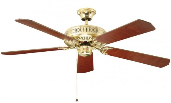 Fantasia Classic 52″ Ceiling Fan Without Light Polished Brass