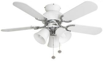 Fantasia Capri Combi 36″ Ceiling Fan Light White / Stainless Steel