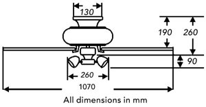Fantasia Gemini ceiling fan dimensions