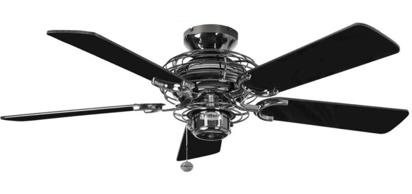 Fantasia Gemini 42″ Ceiling Fan Pewter / Gloss Black Blades