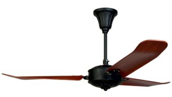 Fantasia Islander Colonial Style 52″ Ceiling Fan Light Black / Wood