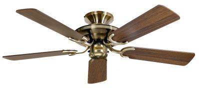 Fantasia Mayfair 42″ Ceiling Fan Without Light Antique Brass / Oak