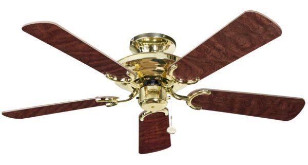 Fantasia Mayfair 42″ Ceiling Fan Without Light Polished Brass / Oak