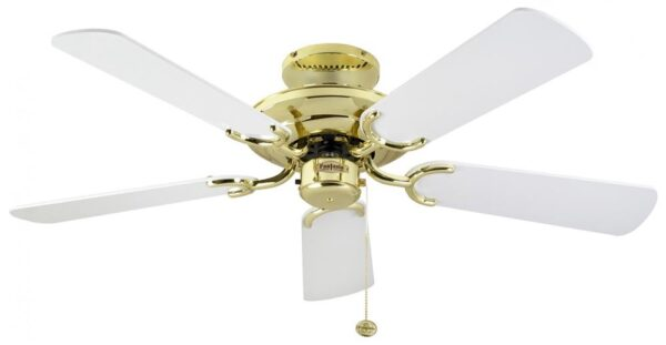 Fantasia Mayfair 42″ Ceiling Fan Without Light Polished Brass / White