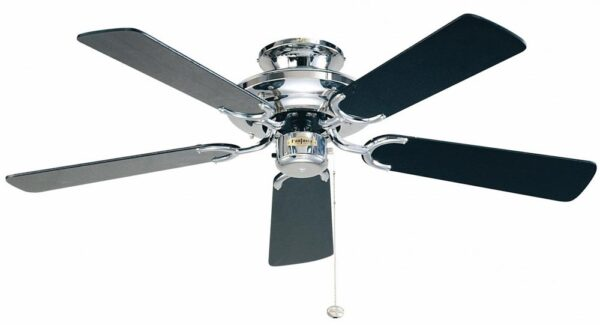 Fantasia Mayfair 42″ Ceiling Fan Without Light Polished Chrome / Black