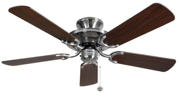 Fantasia Mayfair 42″ Ceiling Fan Without Light Stainless Steel / Oak