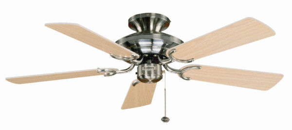 Fantasia Mayfair 42″ Ceiling Fan Without Light Stainless Steel / Maple