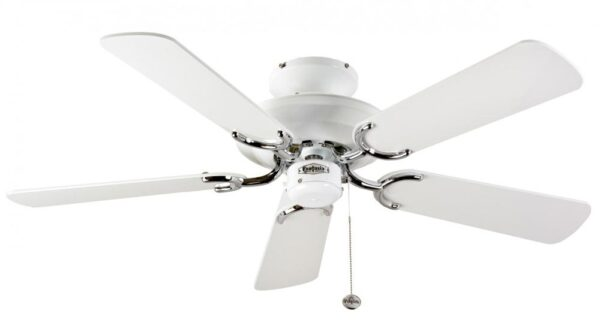 Fantasia Mayfair 42″ Ceiling Fan Without Light White / Stainless Steel