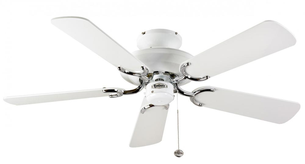 Fantasia Mayfair 42 Quot Ceiling Fan Without Light White