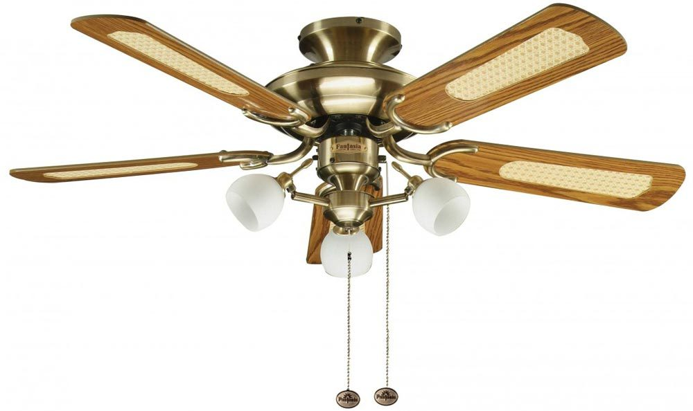 Fantasia Mayfair Combi 42 Ceiling Fan Light Antique Brass