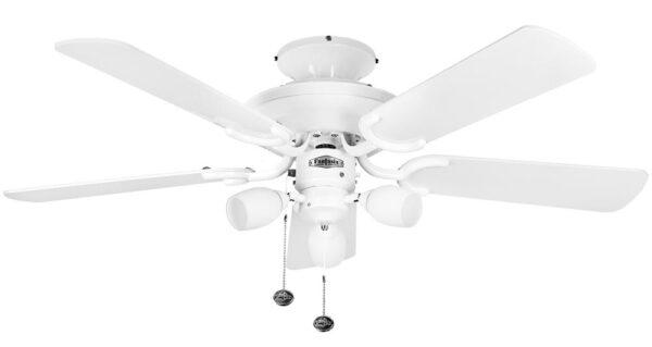 Fantasia Mayfair Combi 42″ Ceiling Fan Light Kit Gloss White