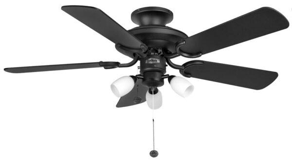 "Fantasia Mayfair Combi 42"" Ceiling Fan Light Matt Black"