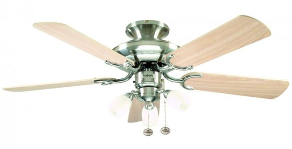 Fantasia Mayfair Combi 42″ Ceiling Fan Light Stainless Steel / Maple