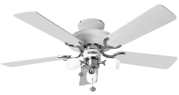 Fantasia Mayfair Combi 42″ Ceiling Fan Light White / Stainless Steel