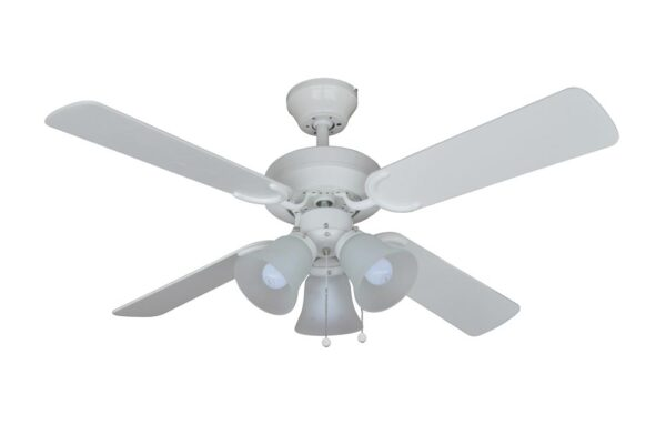 """Fantasia Montana Combi 36"""" Ceiling Fan 3 Light Kit White"""