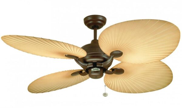 Fantasia Palm 52″ Outdoor Ceiling Fan Chocolate Brown IP54