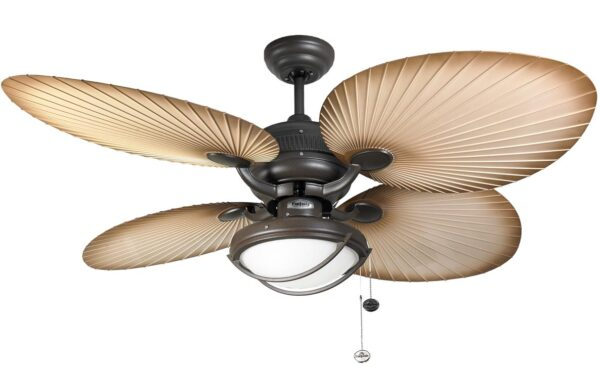 Fantasia Palm 52″ Outdoor Ceiling Fan Light Chocolate Brown IP54