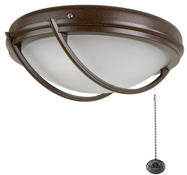 Fantasia Patio IP54 Domed Fan Light Kit Chocolate Brown