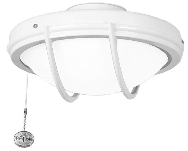Fantasia Patio IP54 Domed Fan Light Kit White Finish