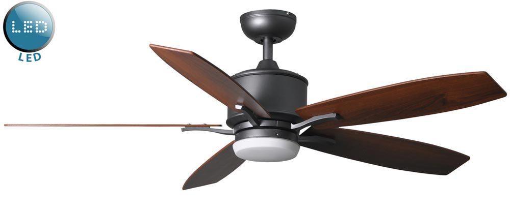"Prima 52"" Remote Control Ceiling Fan LED Light Natural"