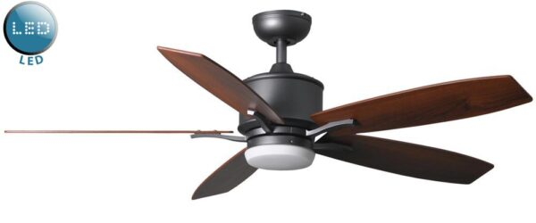 Prima 52″ Remote Control Ceiling Fan LED Light Natural Iron
