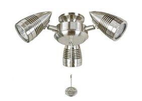 Fantasia Sorrento 3 Spot Light Fan Kit Brushed Nickel