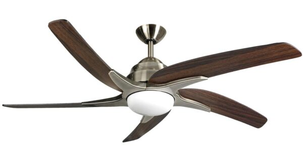 Fantasia Viper Plus Remote 54″ Ceiling Fan Antique Brass / Dark Oak