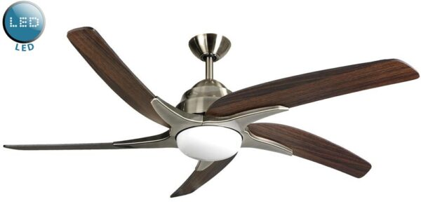 Fantasia Viper Plus Remote 54″ Ceiling Fan LED Antique Brass / Dark Oak
