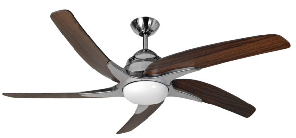 Fantasia Viper Plus Remote 44″ Ceiling Fan Stainless Steel / Dark Oak