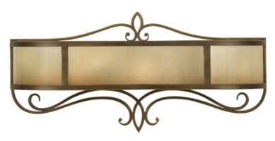 Feiss Justine Large Astral Bronze 2 Light Vanity Wall Light Oak Glass