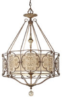 Feiss Marcella Large Art Deco Designer 3 Light Feature Chandelier