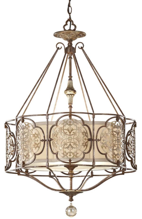Feiss Marcella Medium Art Deco Designer 3 Light Feature Chandelier