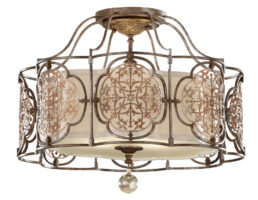 Feiss Marcella Art Deco Style Designer 3 Light Feature Semi Flush