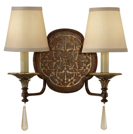 Feiss Marcella Designer Fret Laced 2 Lamp Feature Wall Light