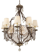 Feiss Marcella Very Large Designer 8 Light Chandelier Bronze
