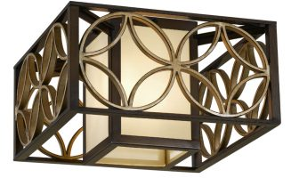 Feiss Remy Art Deco Style 2 Light Flush Designer Ceiling Light