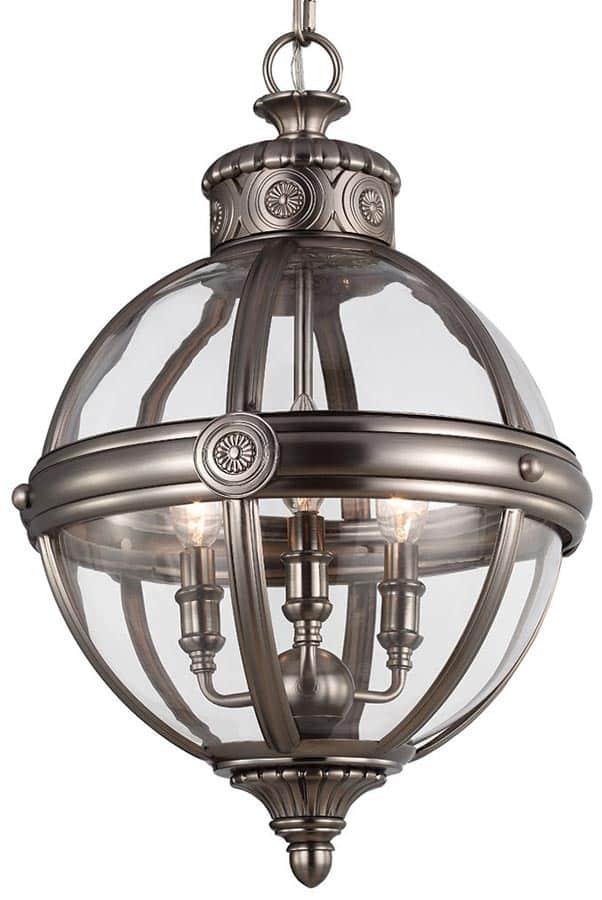 Feiss Adams Pendant Chandelier 3 Light Globe Lantern