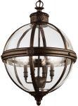 Feiss Adams 4 Light Globe Pendant Chandelier Lantern British Bronze